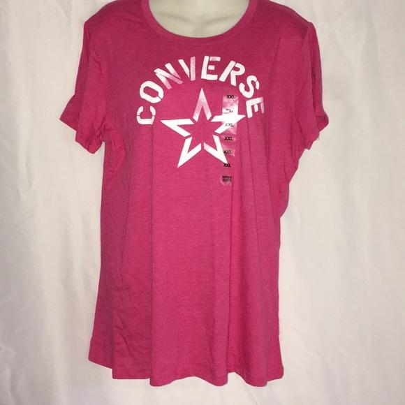 027bc4c5dee7 Converse 2XL Pink T-shirt top All Star